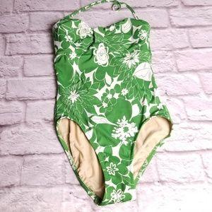 J Crew size 8 one piece floral bathing swim suit